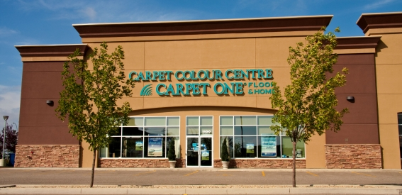 Red Deer Carpet One Floor & Home is located across from Best Buy in Southpointe Common